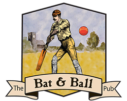 Bat and Ball Pub Logo